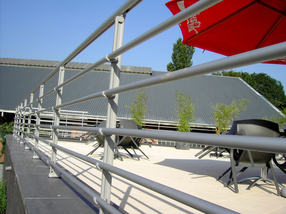 Portable Pool Handrails : Handrail rond roof systems images access ramp
